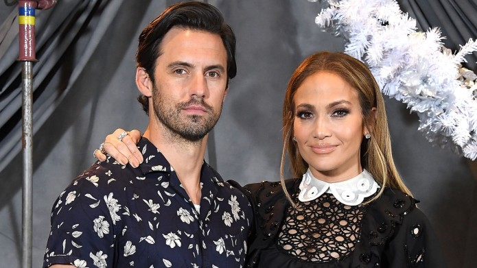 Milo Ventimiglia, Jennifer Lopez pose at