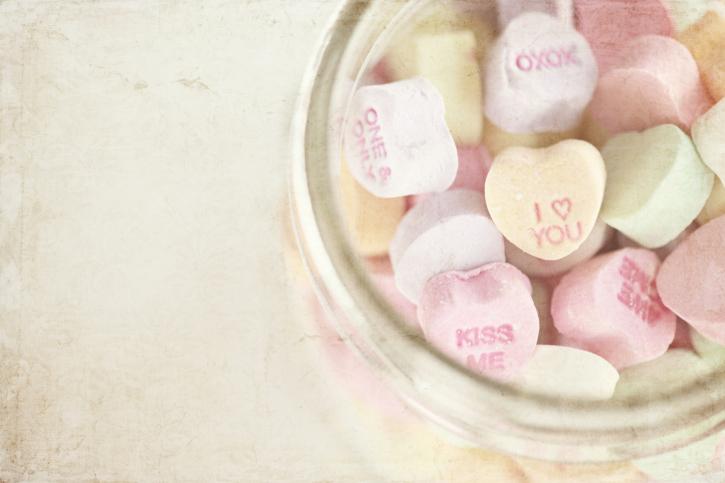 mason jar candy hearts