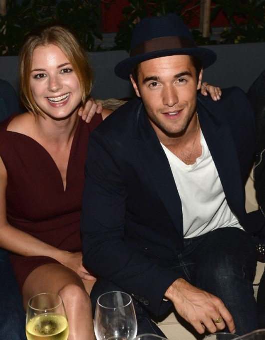 Emily VanCamp and Joshua Bowman attend the NYLON September Issue Party