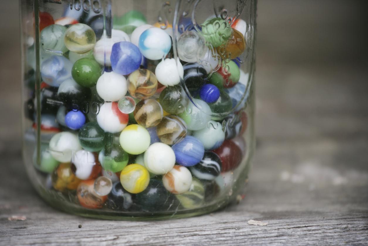 mason jar marbles