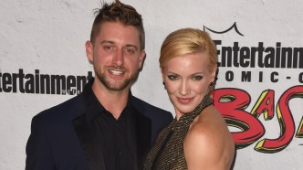 Matthew Rodgers and fiance Katie Cassidy