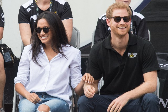 Meghan Markle and Prince Harry appear together at the wheelchair tennis on day 3 of the Invictus Games Toronto