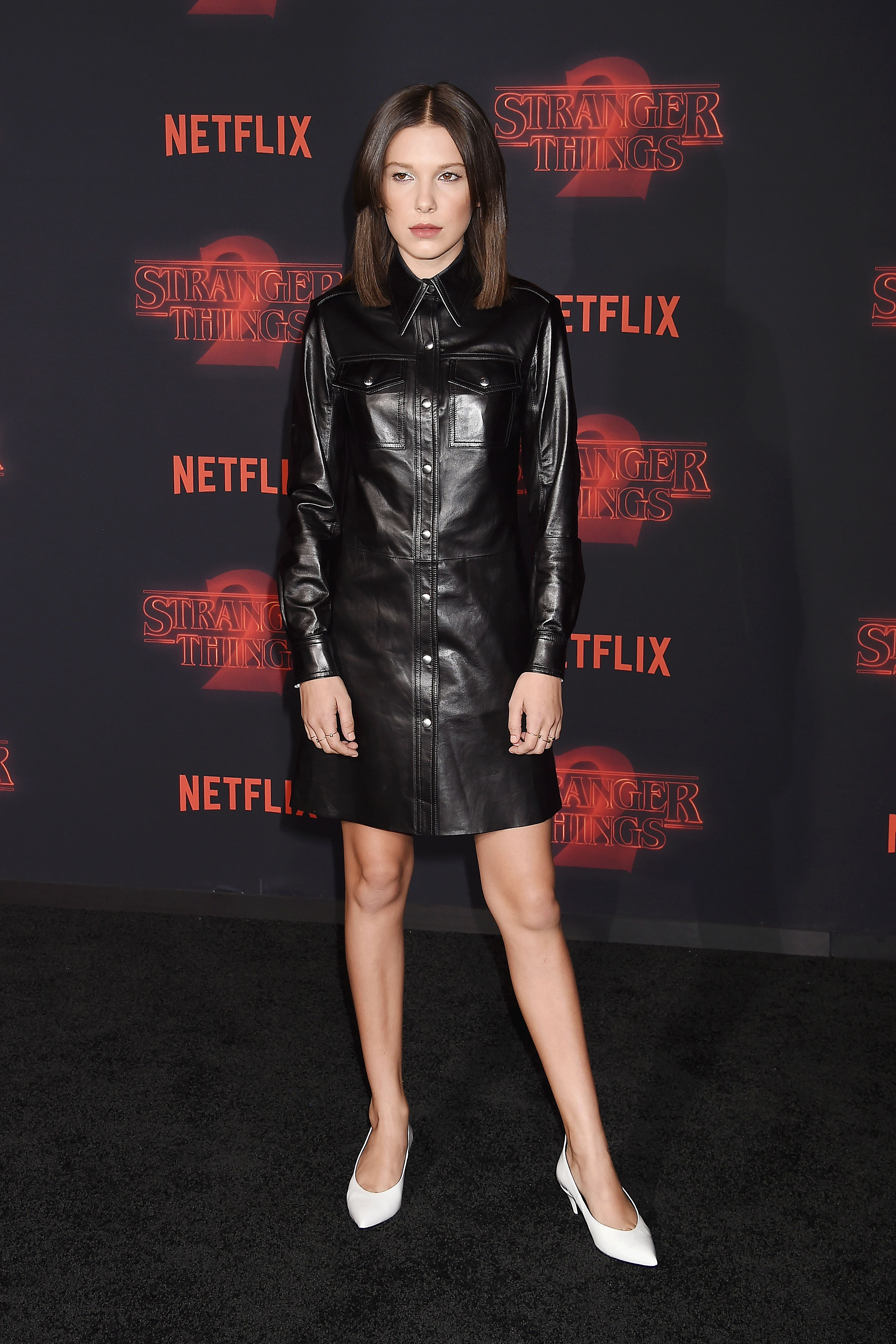 Millie Bobby Brown at the Stranger Things 2 premiere in Los Angeles