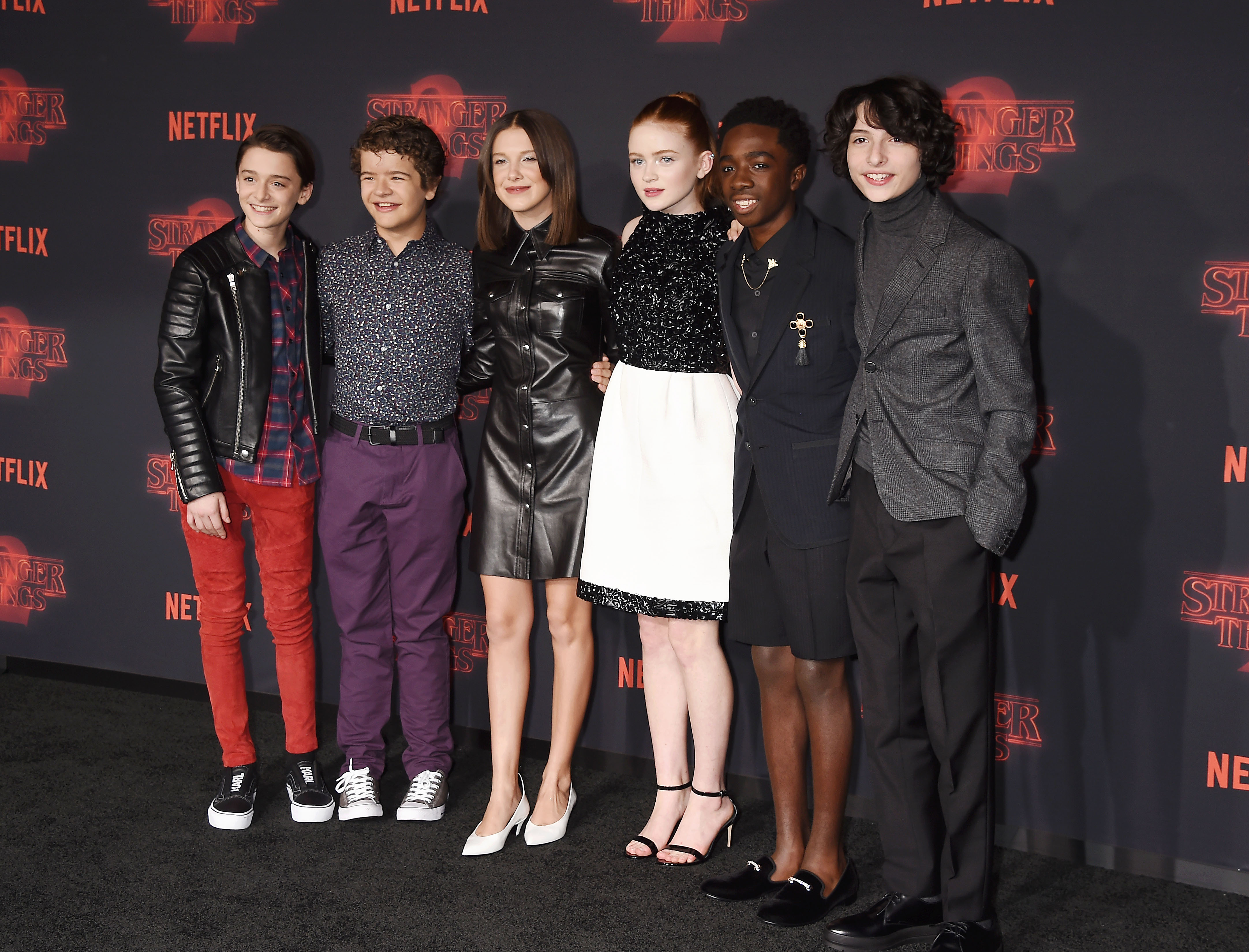 Stranger Things cast at the Los Angeles premiere