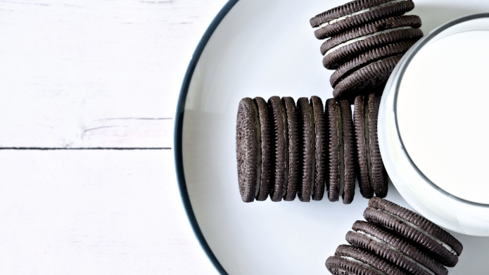 photo of cookies and milk