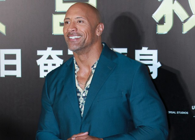 Dwayne Johnson attends 'Skyscraper' premiere on July 2, 2018 in Beijing, China
