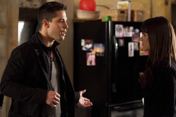 "Rachel and Brody talk in ""Glee"""