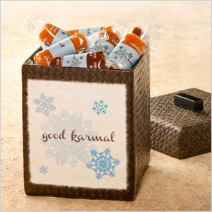 Good Karma caramel snowflakes