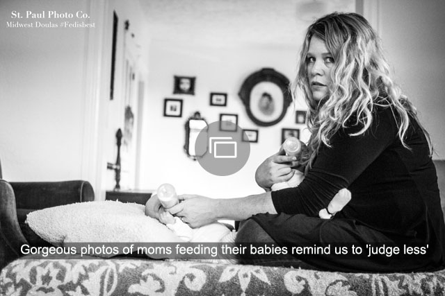 Gorgeous photos of moms feeding their babies remind us to 'judge less'