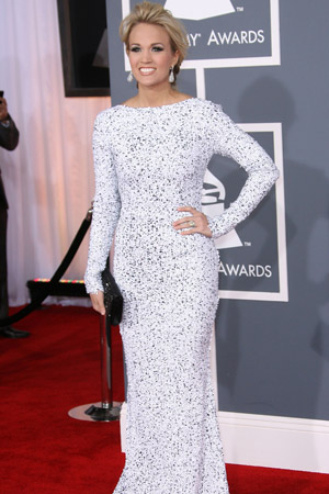 Carrie Underwood Best Dressed at the 2012 Grammy Awards