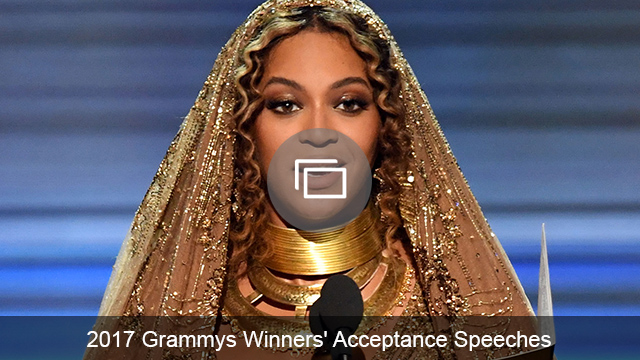 Grammy speeches 2017