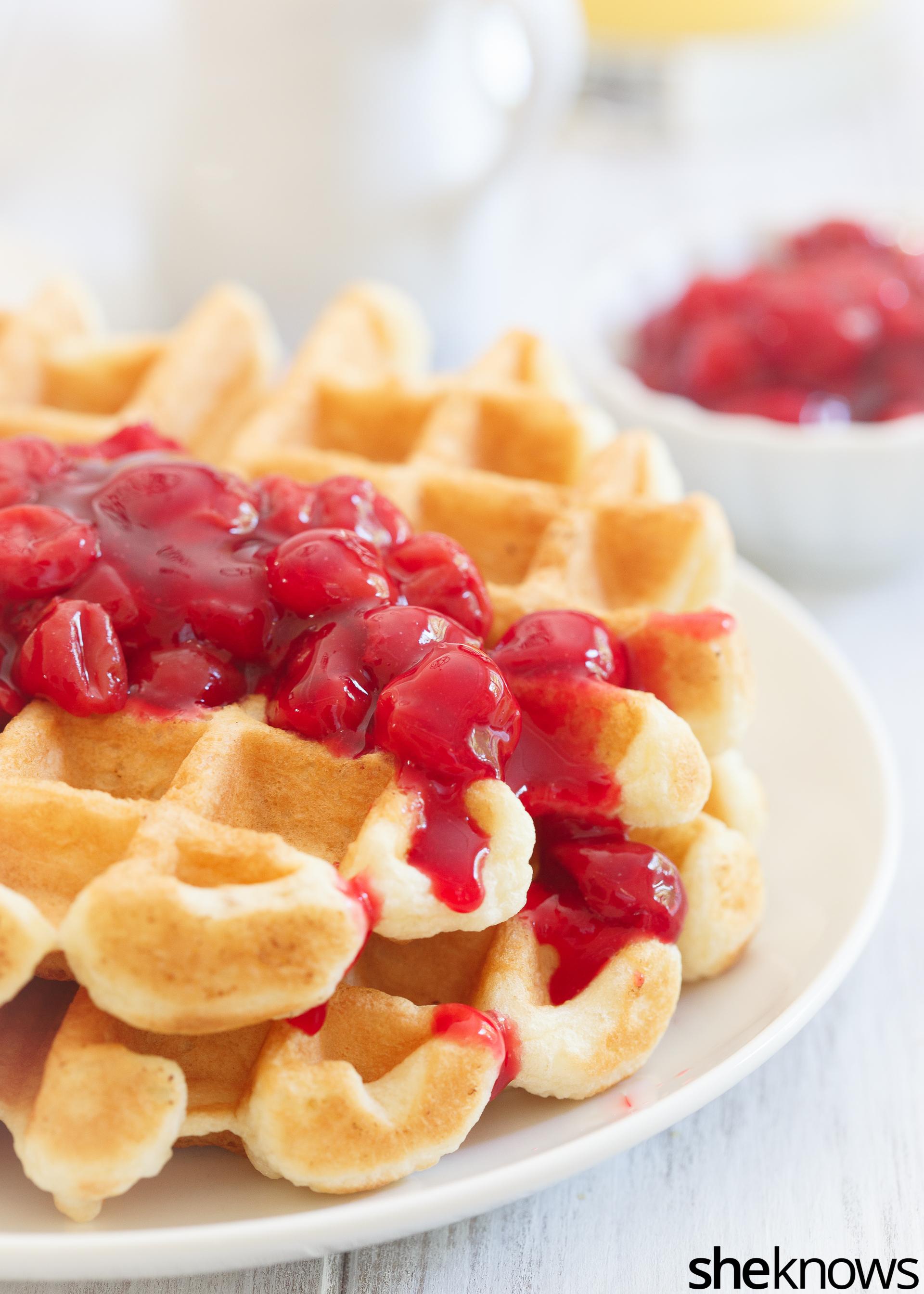 Cherry pie waffles