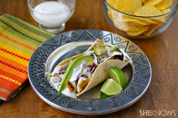 Sunday dinner: Grilled fish tacos with creamy lime dressing
