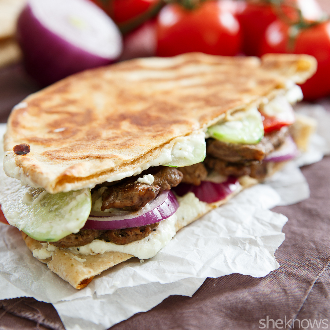Pressed gyro sandwich
