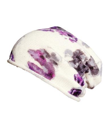 floral print beanie