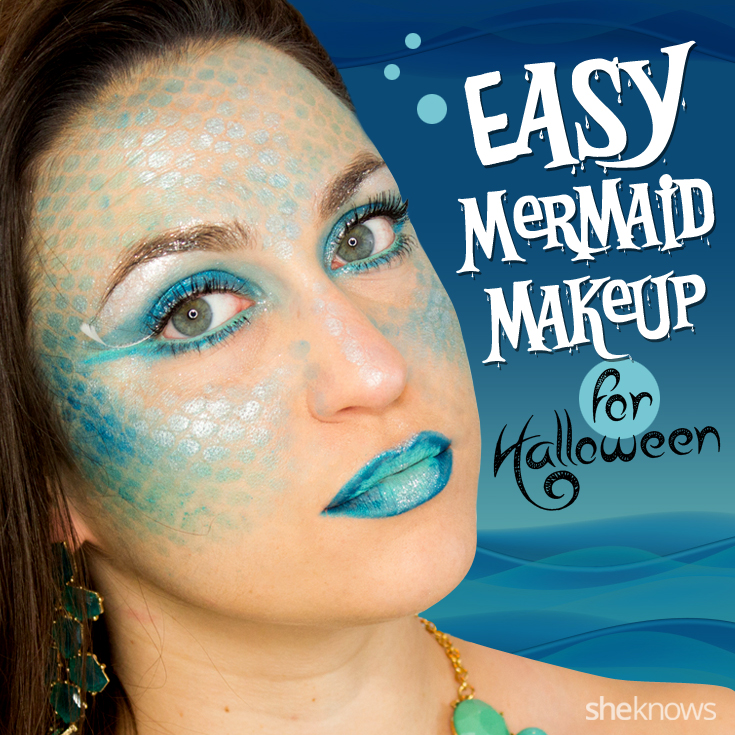 Mermaid Halloween makeup
