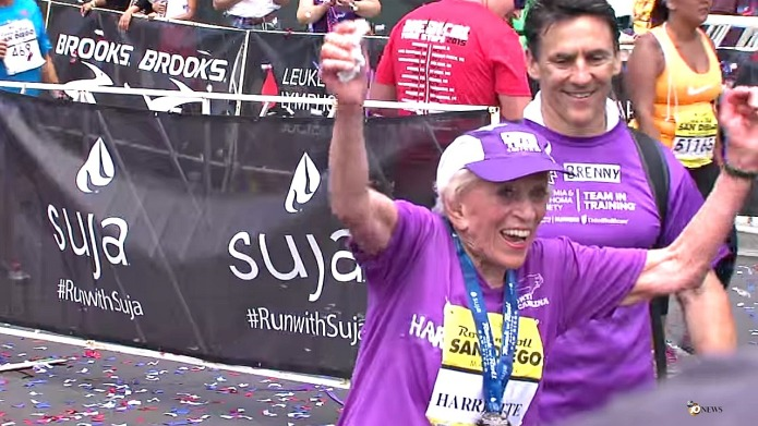 92-Year-old becomes oldest woman to finish