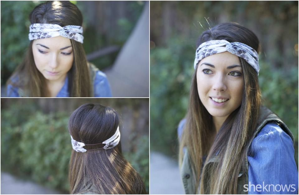 Headband with a twist: Finished