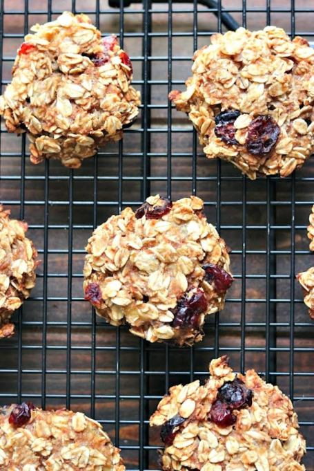 Cranberry Oatmeal Breakfast Cookies
