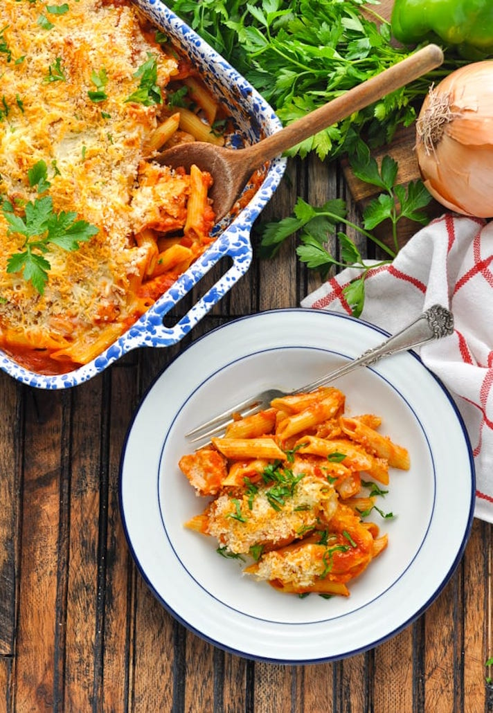 13 Make-Ahead Freezer Meals for Nights When You Just Can't: Dump-and-Bake Chicken Parm Casserole