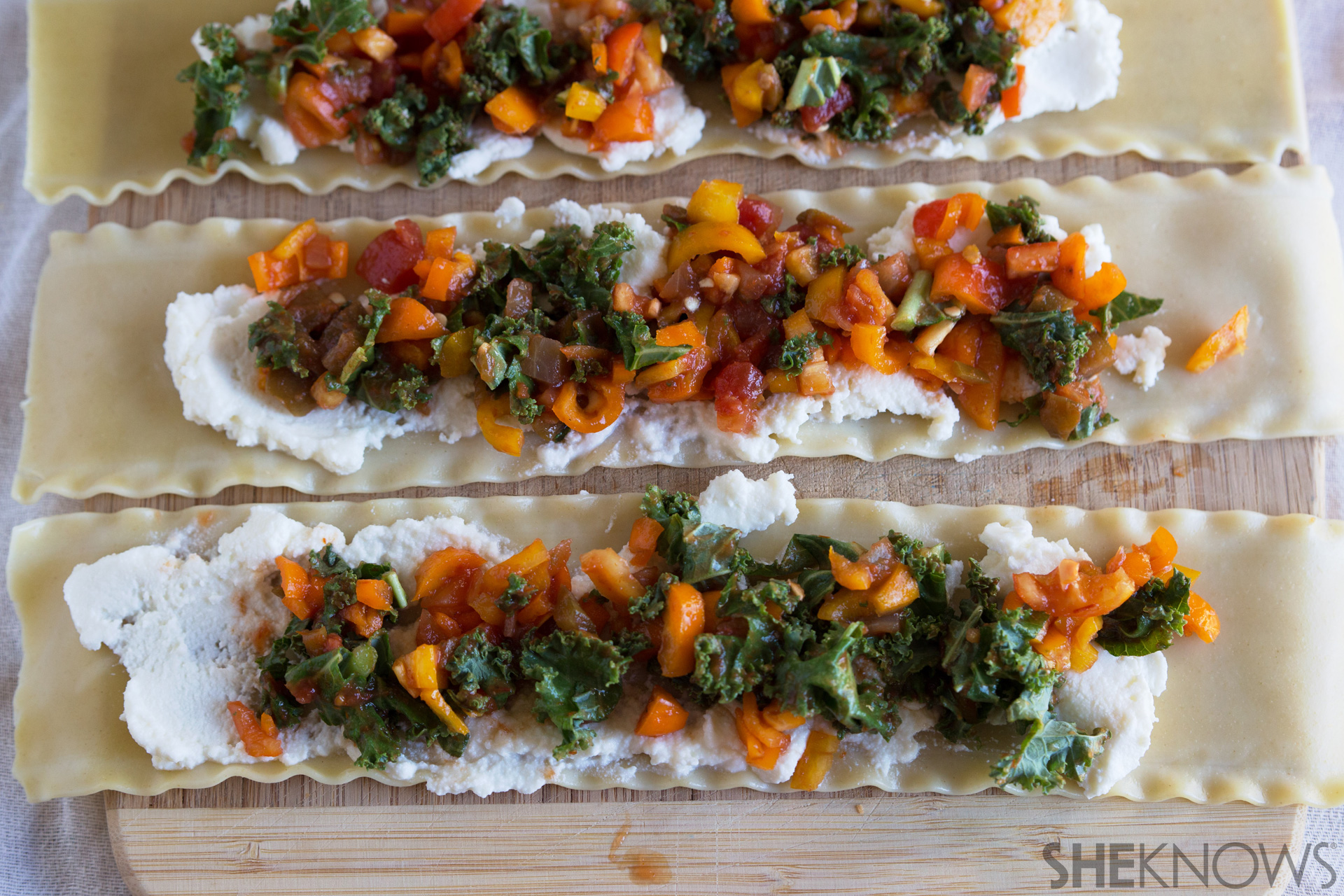 Hearty roasted vegetable lasagna roll ups 4