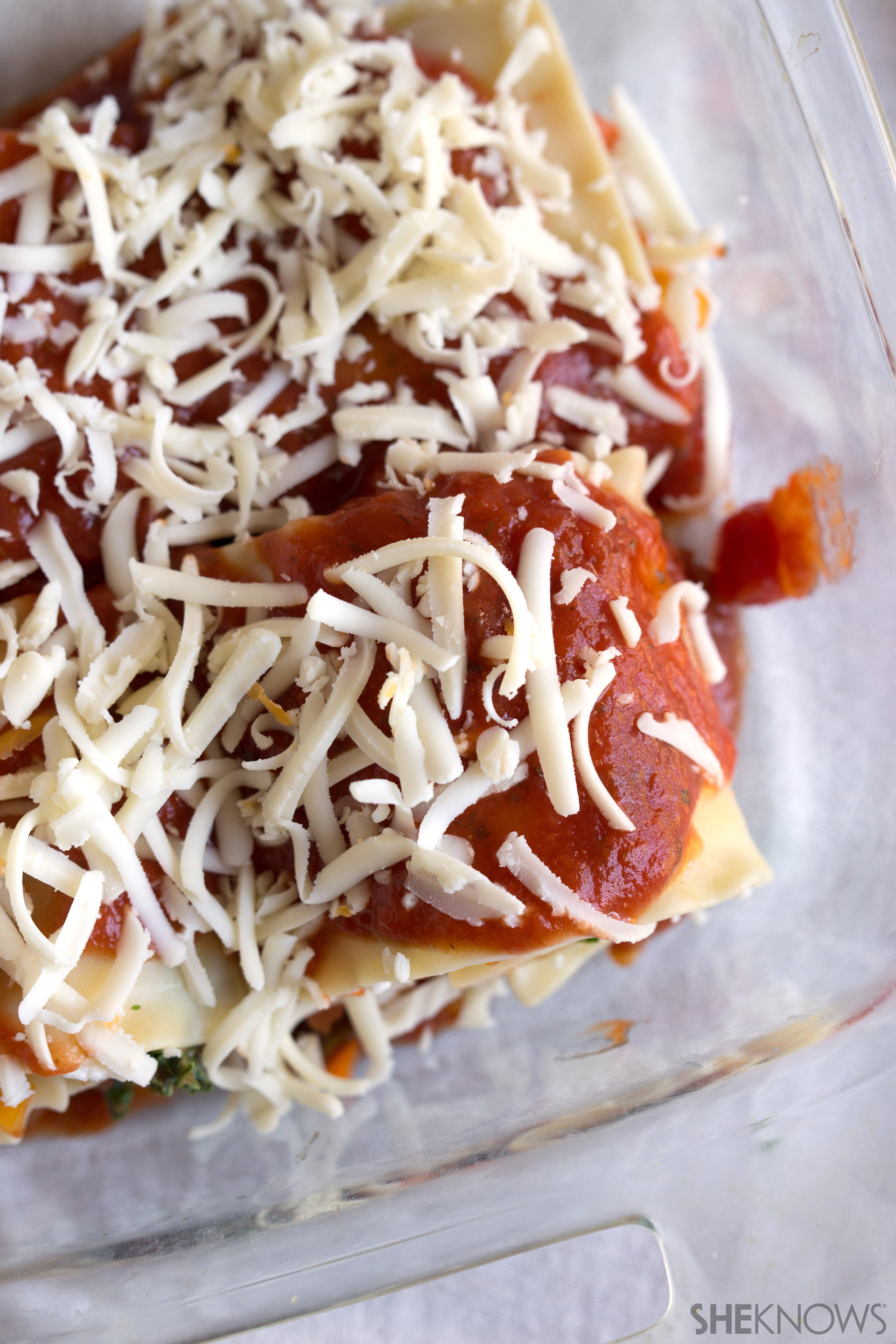 Hearty roasted vegetable lasagna roll ups 6