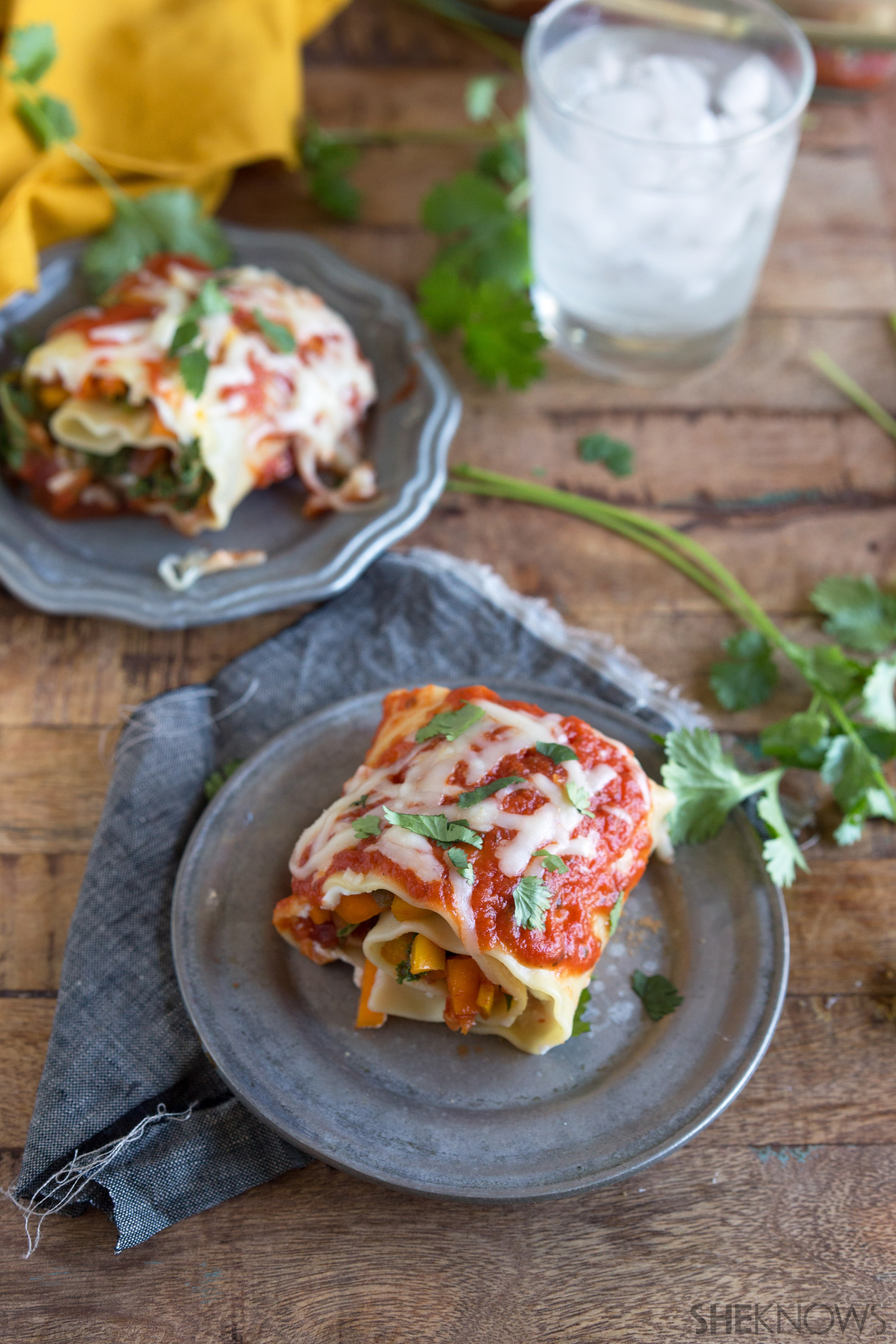 Hearty roasted vegetable lasagna roll ups 7