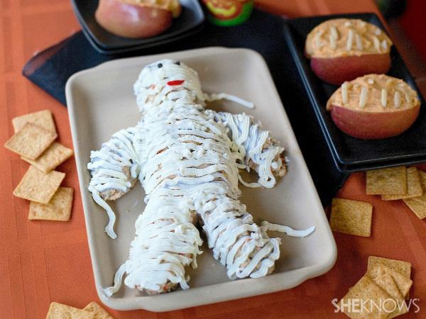 Halloween cheese mummy