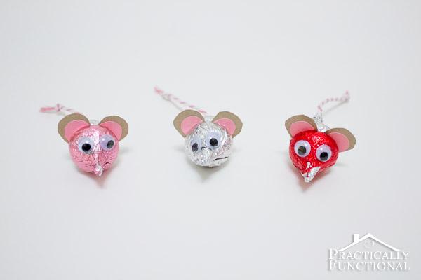 hershey's kisses valentine's mice