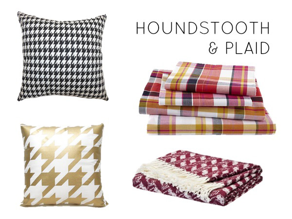 Houndstooth and plaid