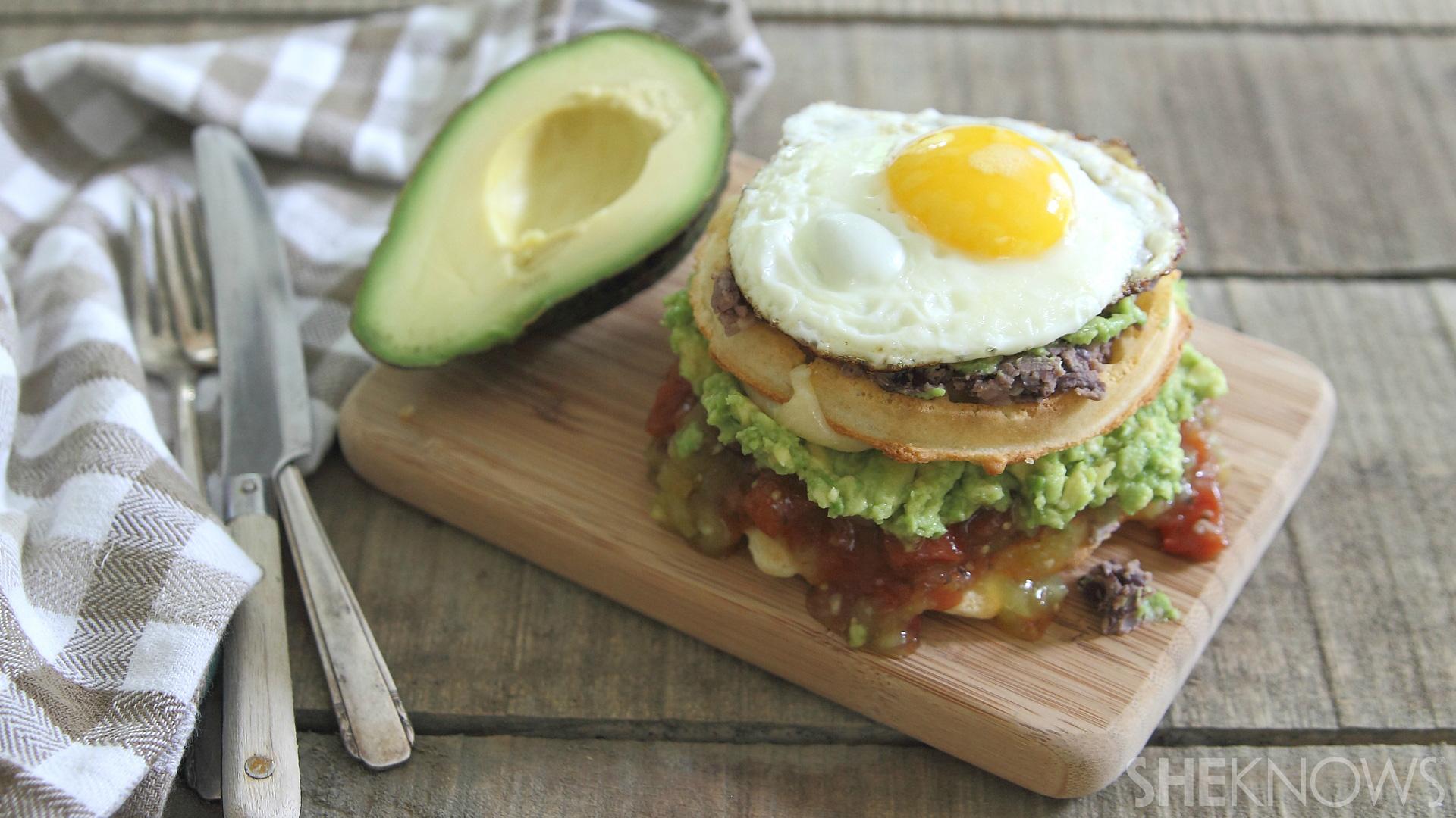 Huevos rancheros breakfast waffles