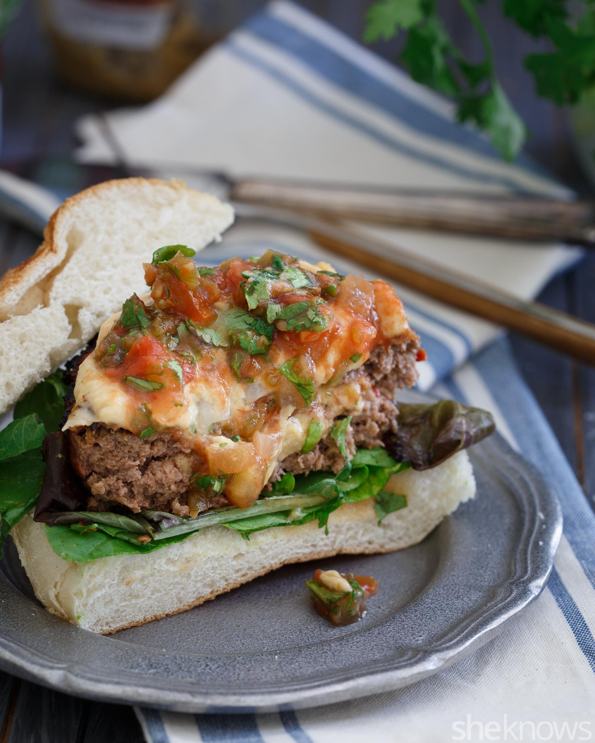 hummus stuffed burgers