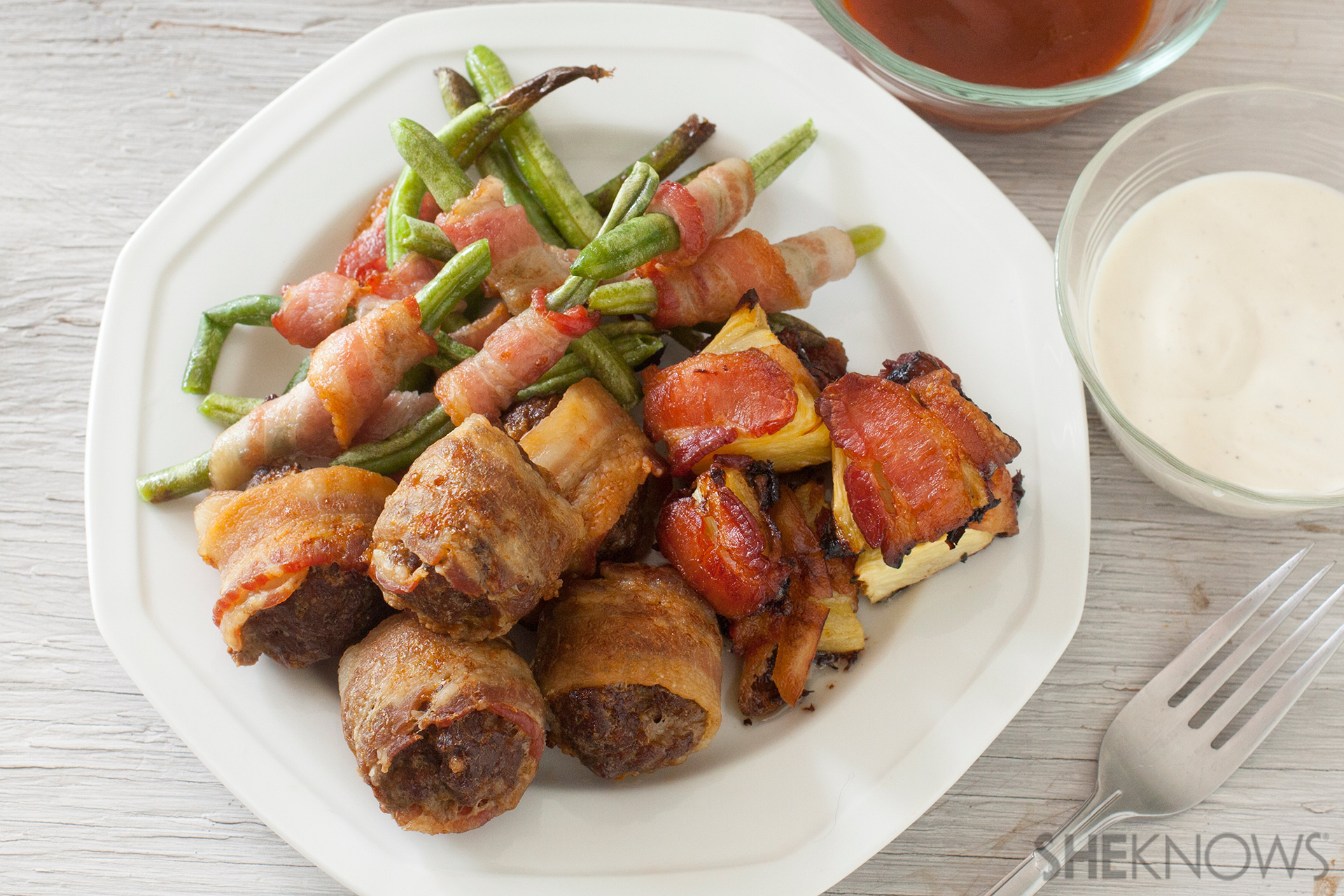 Bacon wrapped dinner