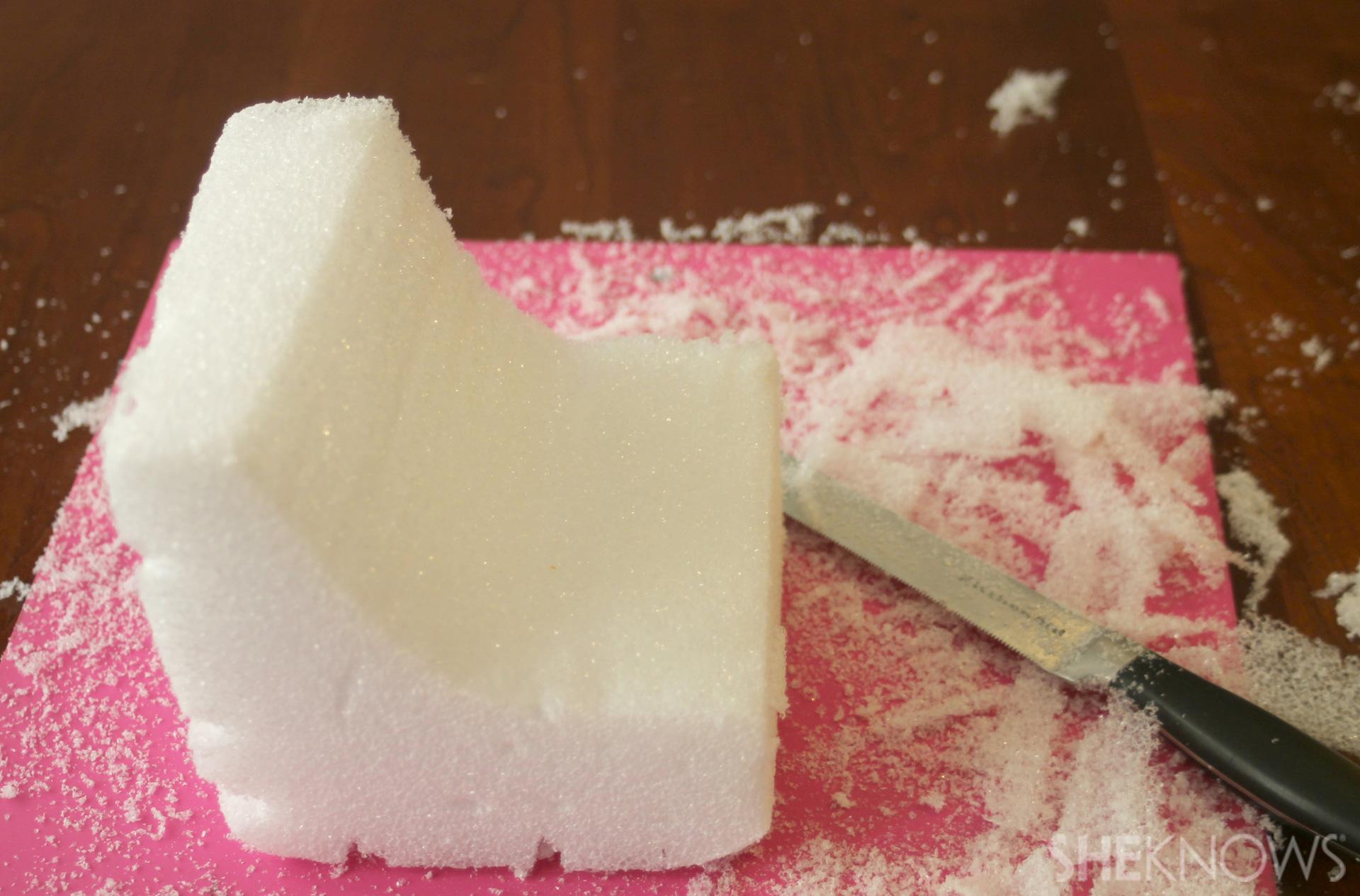 Step 2:Carve your styrofoam