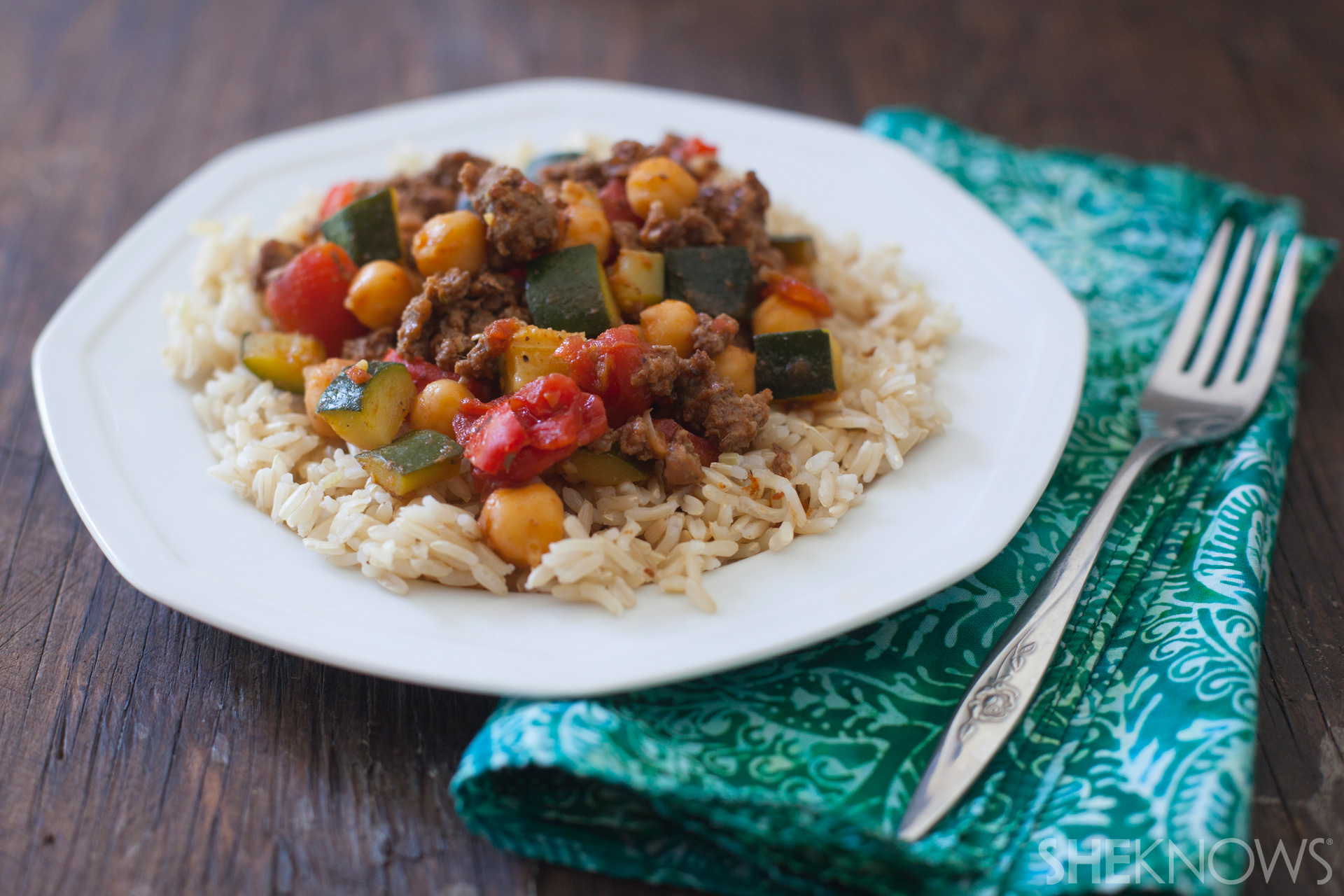 chickpea beef skillet