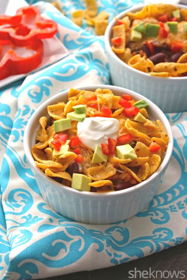 You'll enjoy this fun meal made from a favorite snack! Personal Fritos pot pies make a fun meal!