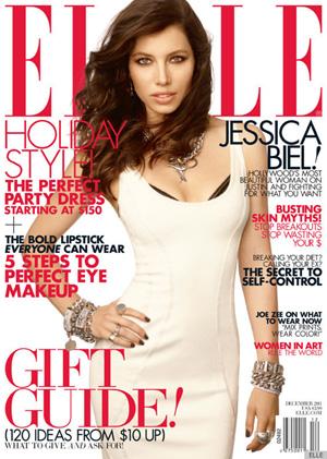 Jessica Biel December 2011 Elle magazine