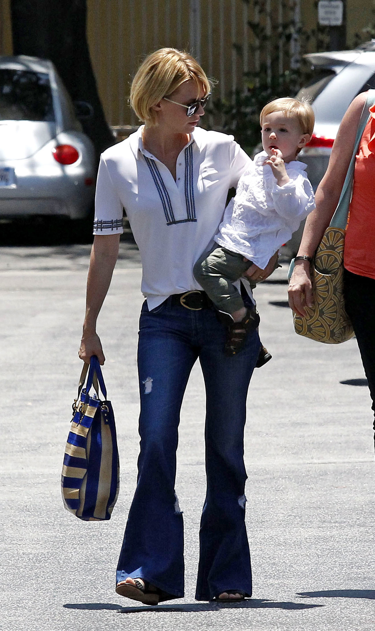 January Jones out for lunch