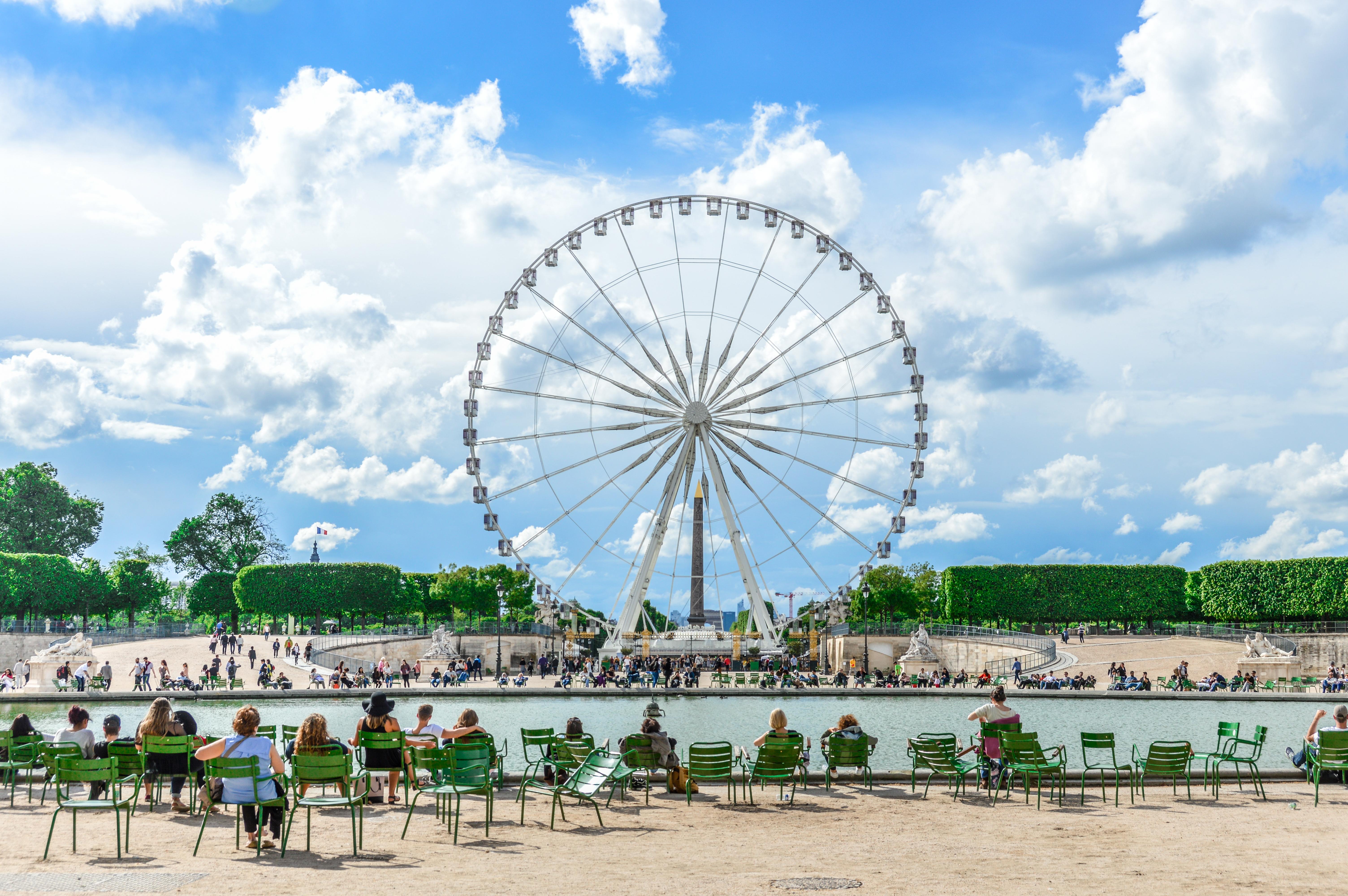 Ferris Wheel at the Tuileries Garden in Paris Ferris Wheel at the Tuileries Garden in Paris
