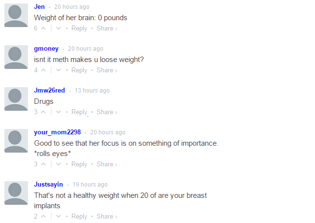 Jenelle Evans weight loss comments