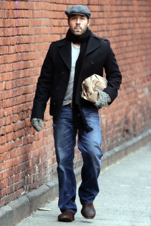Jeremy Piven after getting treatments