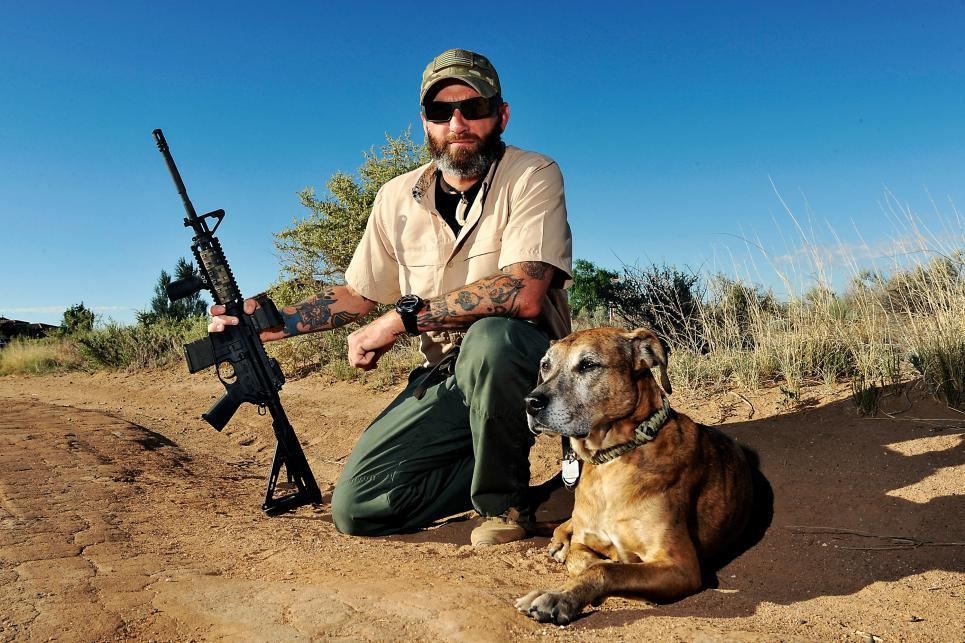 Dogs of War veteran Jim Stanek and his dog Sarge