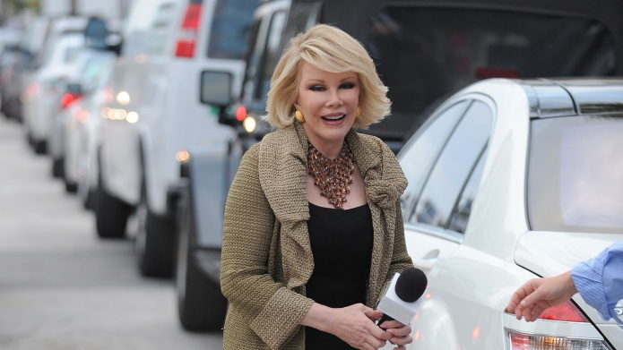 Comedienne Joan Rivers was on life