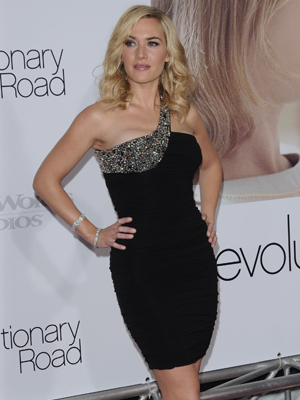 Kate Winslet shows off her Pilates bod at the Revolutionary Road premiere