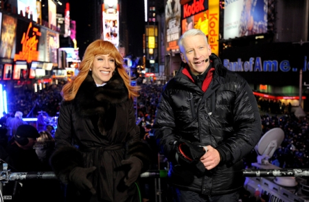 Kathy Griffin and Anderson Cooper ring in the New Year