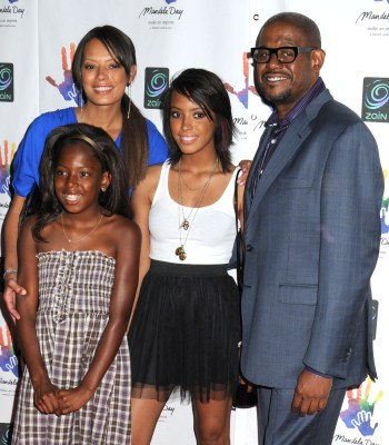 Keisha Whitaker and her family at the Mandela Day concert on July 18