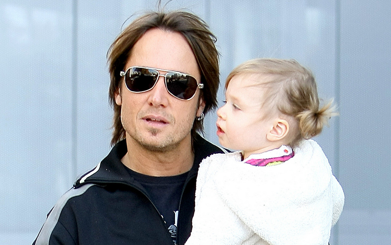 Keith Urban's Hair in 2009 with daughter Sunday Rose