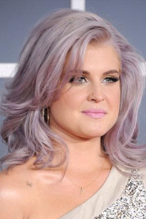 Kelly Osbourne Purple shaded hair
