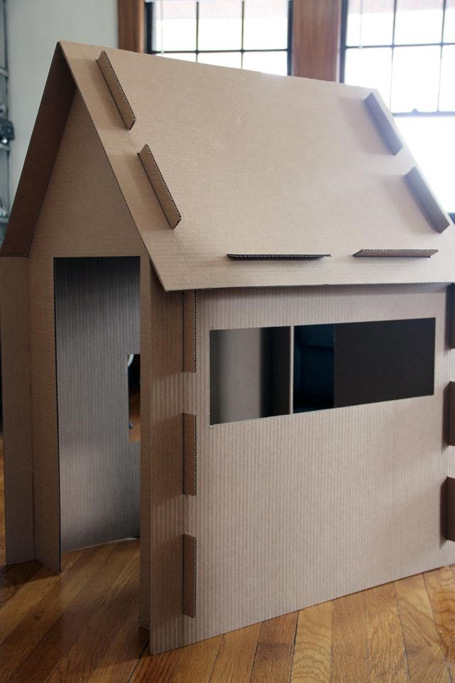 Incredible Forts to Build: Slotted cardboard house setup