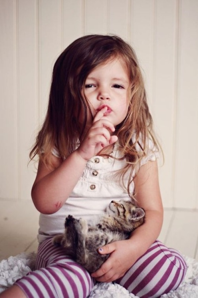 Kids and kittens